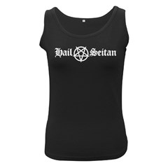 Hail Seitan Women s Black Tank Tops