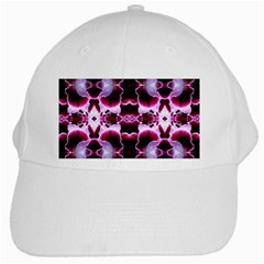 White Burgundy Flower Abstract White Cap by Costasonlineshop