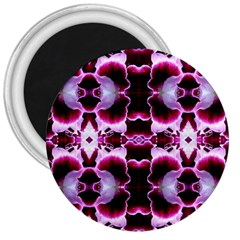 White Burgundy Flower Abstract 3  Magnets