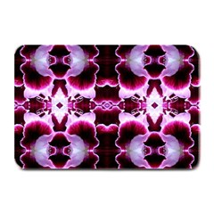 White Burgundy Flower Abstract Plate Mats by Costasonlineshop
