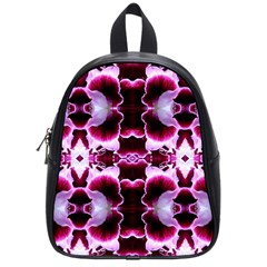 White Burgundy Flower Abstract School Bags (small)  by Costasonlineshop