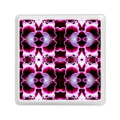 White Burgundy Flower Abstract Memory Card Reader (square)  by Costasonlineshop