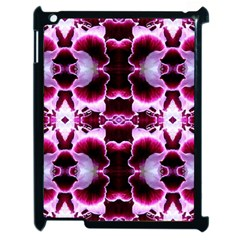 White Burgundy Flower Abstract Apple Ipad 2 Case (black)