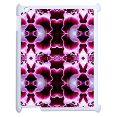 White Burgundy Flower Abstract Apple Ipad 2 Case (white) by Costasonlineshop