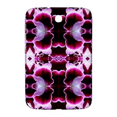 White Burgundy Flower Abstract Samsung Galaxy Note 8 0 N5100 Hardshell Case  by Costasonlineshop