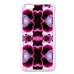 White Burgundy Flower Abstract Apple Iphone 6 Plus/6s Plus Enamel White Case