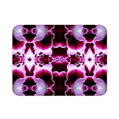White Burgundy Flower Abstract Double Sided Flano Blanket (mini)