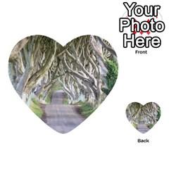 Dark Hedges, Ireland Multi Purpose Cards (heart)  by trendistuff