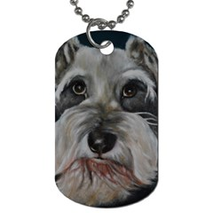 The Schnauzer Dog Tag (two Sides) by timelessartoncanvas