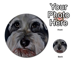 The Schnauzer Multi Purpose Cards (round)  by timelessartoncanvas