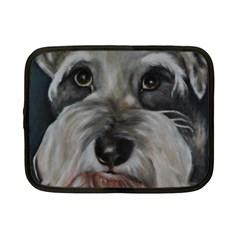 The Schnauzer Netbook Case (small)  by timelessartoncanvas