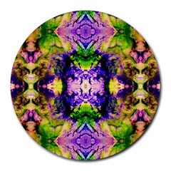 Green,purple Yellow ,goa Pattern Round Mousepads by Costasonlineshop