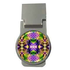 Green,purple Yellow ,goa Pattern Money Clips (round)  by Costasonlineshop