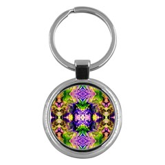 Green,purple Yellow ,goa Pattern Key Chains (round)