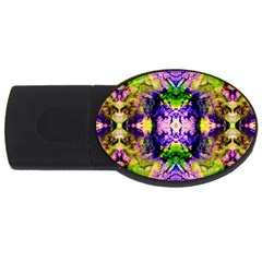 Green,purple Yellow ,goa Pattern Usb Flash Drive Oval (2 Gb)