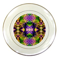 Green,purple Yellow ,goa Pattern Porcelain Plates