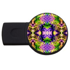 Green,purple Yellow ,goa Pattern Usb Flash Drive Round (4 Gb)