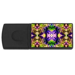 Green,purple Yellow ,goa Pattern Usb Flash Drive Rectangular (4 Gb)