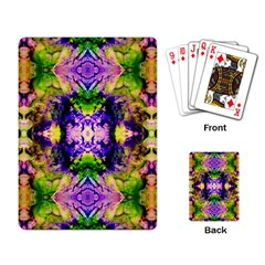 Green,purple Yellow ,goa Pattern Playing Card by Costasonlineshop
