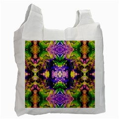 Green,purple Yellow ,goa Pattern Recycle Bag (two Side)  by Costasonlineshop