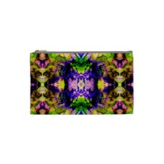 Green,purple Yellow ,goa Pattern Cosmetic Bag (small)