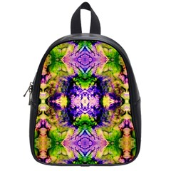 Green,purple Yellow ,goa Pattern School Bags (small)