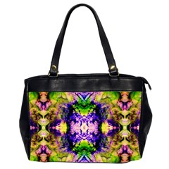 Green,purple Yellow ,goa Pattern Office Handbags (2 Sides)  by Costasonlineshop