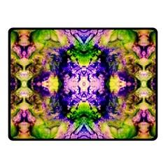 Green,purple Yellow ,goa Pattern Fleece Blanket (small) by Costasonlineshop