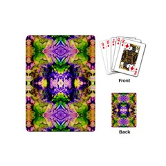 Green,purple Yellow ,goa Pattern Playing Cards (mini)  by Costasonlineshop
