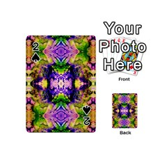 Green,purple Yellow ,goa Pattern Playing Cards 54 (mini)  by Costasonlineshop
