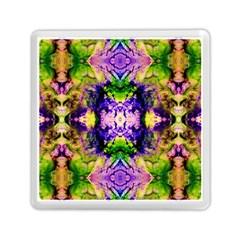 Green,purple Yellow ,goa Pattern Memory Card Reader (square)