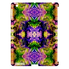 Green,purple Yellow ,goa Pattern Apple Ipad 3/4 Hardshell Case (compatible With Smart Cover) by Costasonlineshop