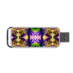 Green,purple Yellow ,goa Pattern Portable Usb Flash (two Sides)
