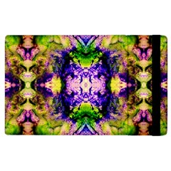 Green,purple Yellow ,goa Pattern Apple Ipad 2 Flip Case by Costasonlineshop