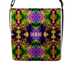Green,purple Yellow ,goa Pattern Flap Messenger Bag (l)