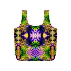Green,purple Yellow ,goa Pattern Full Print Recycle Bags (s)