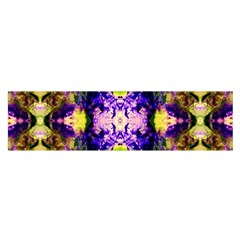 Green,purple Yellow ,goa Pattern Satin Scarf (oblong) by Costasonlineshop