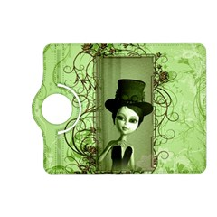 Cute Girl With Steampunk Hat And Floral Elements Kindle Fire Hd (2013) Flip 360 Case by FantasyWorld7
