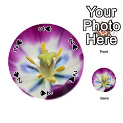 Purple Beauty Playing Cards 54 (round)  by timelessartoncanvas