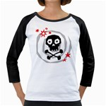 Spiral Skull Girly Raglans