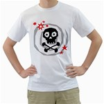 Spiral Skull Men s T-Shirt (White)