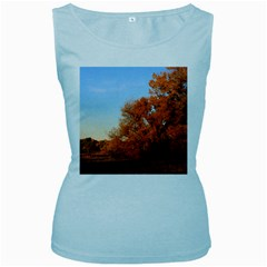 Beautiful Autumn Day Women s Baby Blue Tank Tops by trendistuff