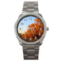 Beautiful Autumn Day Sport Metal Watches by trendistuff