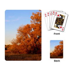 Beautiful Autumn Day Playing Card by trendistuff