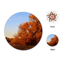 Beautiful Autumn Day Playing Cards (round)  by trendistuff