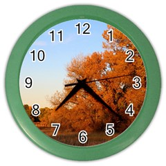 Beautiful Autumn Day Color Wall Clocks by trendistuff