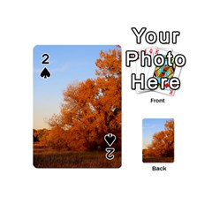 Beautiful Autumn Day Playing Cards 54 (mini)  by trendistuff
