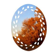 Beautiful Autumn Day Ornament (oval Filigree)  by trendistuff