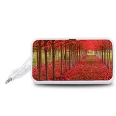 AVENUE OF TREES Portable Speaker (White)  by trendistuff
