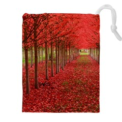 Avenue Of Trees Drawstring Pouches (xxl) by trendistuff